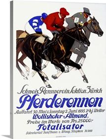 Pferderennen, Totalisator,Vintage Poster, by Iwan E. Hugentobler