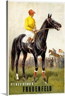 Pfingstrennen, Frauenfeld, Vintage Poster, by Iwan E. Hugentobler