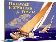 Railway Express for Speed, Vintage Poster