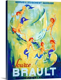 Source Brault,Vintage Poster, by Philippe Noyer
