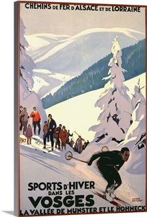 Sports dHiver dans les Vosges, Vintage Poster