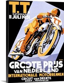 T.T., Groote Priis, Vintage Poster, by Devries