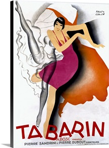 Tabarin,Vintage Poster, by Paul Colin