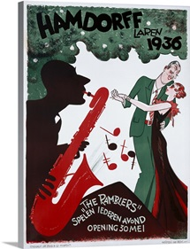 The Ramblers, Hamdorff, Laren 1936, Vintage Poster, by Harmsen Van Beek