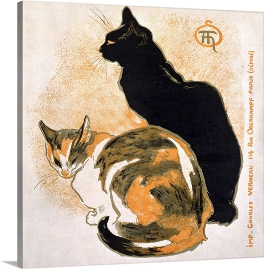 Two Cats Vintage Poster By Theophile Alexandre Steinlen