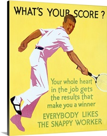 Whats your Score, 1929, Tennis ,Vintage Poster