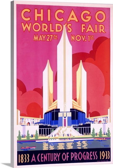 Worlds Fair, Chicago, 1933,Vintage Poster, by Weimer Pursell