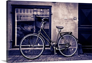 classic bicycle in copenhagen denmark photo canvas print great big canvas. Black Bedroom Furniture Sets. Home Design Ideas