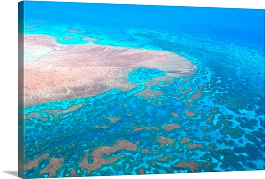 Great Barrier Reef Cairns Australia Seen From Above