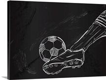 Kick the Soccer Ball Sketch