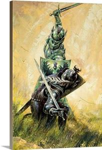 Medieval Knight Battle Photo Canvas Print Great Big Canvas