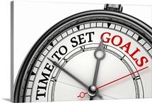 Time To Set Goals Clock