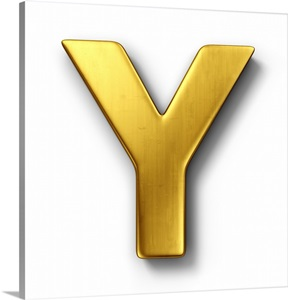 y letter in gold - photo #12