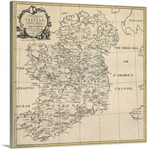 Antique Map of Ireland, ca. 1795