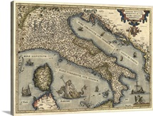 Antique Map of Italy, 1570