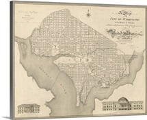 Antique Map of Washington DC, 1818