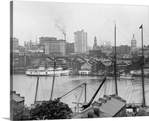 Vintage photograph of Baltimore, Maryland, from Federal Hill