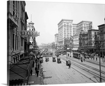 Vintage photograph of Canal Street, New Orleans, Louisiana