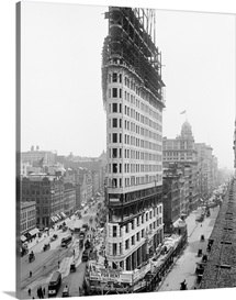 Vintage photograph of Flatiron Building, New York City