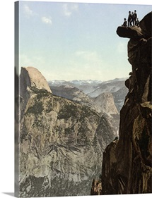 Vintage photograph of Glacier Point and Half Dome, Yosemite National Park