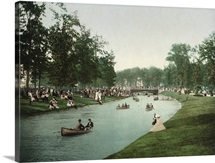 Vintage photograph of Grand Canal, Belle Isle, Detroit, Michigan