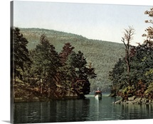 Vintage photograph of Lake George, New York