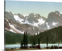 Vintage photograph of Long Lake, Indian Peaks, Colorado