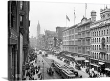 Vintage photograph of Market Street, Philadelphia, Pennsylvania