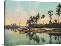 Vintage photograph of Miami River, Florida