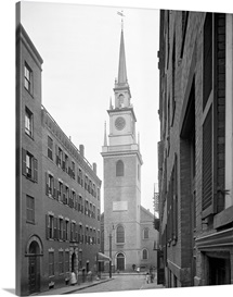 Vintage photograph of Old North Church, Boston, Massachusetts