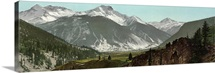 Vintage photograph of Sultan Mountain and Silverton, Colorado