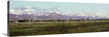 Vintage photograph of The Wasatch Range, Salt Lake City, Utah