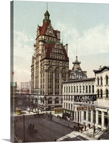 Vintage photograph of Wisconsin Avenue, Milwaukee, Wisconsin
