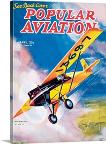Popular Aviation Magazine Cover, April 1935