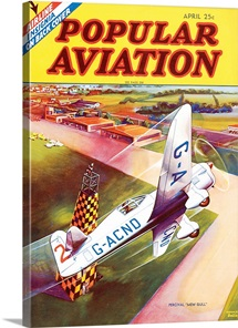 Popular Aviation Magazine Cover, April 1936