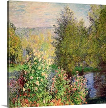 A Corner of the Garden at Montgeron, 1876 7 (oil on canvas)