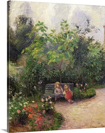 A Corner of the Garden at the Hermitage, Pontoise, 1877 (oil on canvas)
