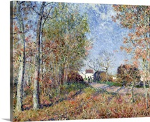 A Corner of the Woods at Sablons, 1883 (oil on canvas)
