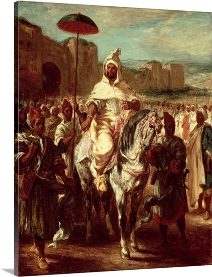 Abd Ar-Rahman (d.788) Sultan of Morocco (oil on canvas)