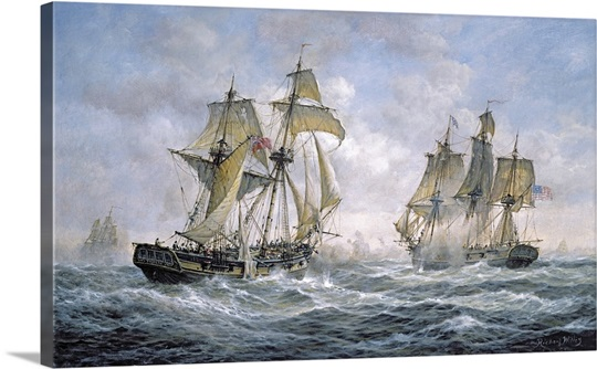 Action Between U.S. Sloop-of-War Wasp and H.M. Brig-of-War Frolic, 1812