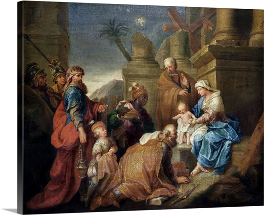 Adoration of the Magi (oil on canvas)