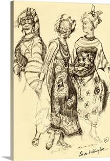 African Women, 1968 (pencil