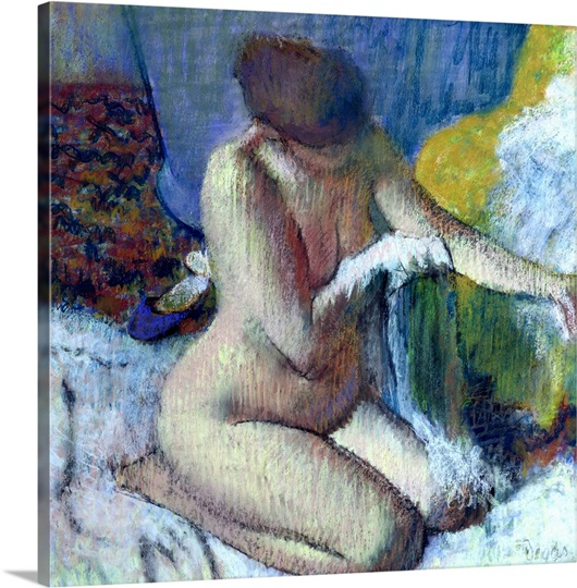 After the Bath, 1895 (pastel on mounted paper)