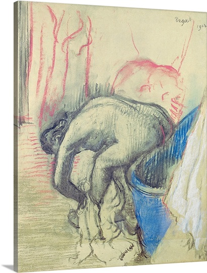After the Bath, 1903 (pastel on paper)