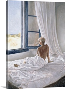 Afternoon View (oil on canvas board)