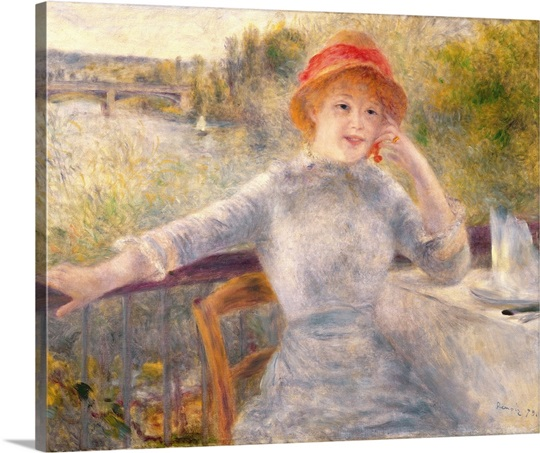 Alphonsine Fournaise (1845 1937) at The Grenouillere, 1879 (oil on canvas)