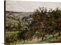 Apple Trees near Vetheuil (oil on canvas)