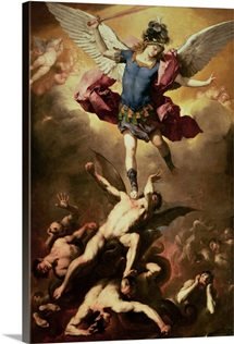 Archangel Michael overthrows the rebel angel, c.1660-65