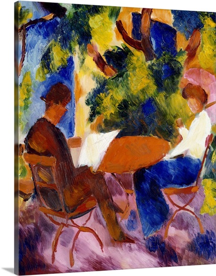 At the Garden Table, 1914 (oil on canvas)