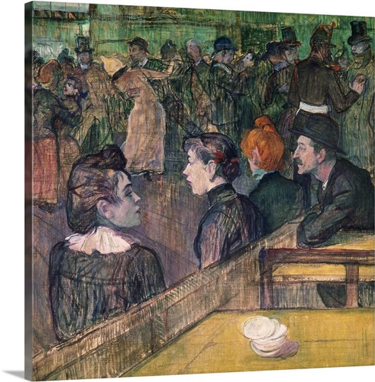 At the Moulin de la Galette, 1899 (oil on canvas)